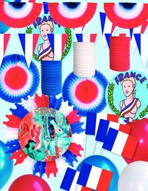 Bleu blanc rouge couleurs pour supporter la france for Boutique de decoration en ligne